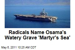 Radicals Name Osama bin Laden's Watery Grave 'Martyr's Sea'