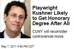CUNY Will Reconsider Decision to Balk on Honorary Degree for Playwright Tony Kushner