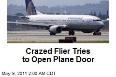 Crazed Flyer Tries to Open Plane Door