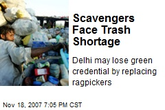 Scavengers Face Trash Shortage