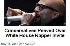 Conservatives Peeved Over White House Rapper Invite
