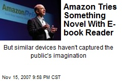 Amazon Tries Something Novel With E-book Reader
