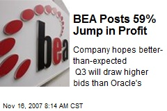 BEA Posts 59% Jump in Profit