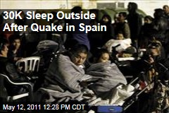 30K Sleep Outside After Earthquake in Spain