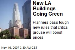 New LA Buildings Going Green