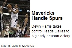 Mavericks Handle Spurs