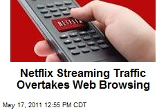 Netflix Streaming Traffic Overtakes Web Browsing