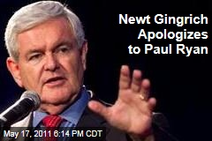 Newt Gingrich Apologizes to Paul Ryan for Criticizing His Budget Plan as 'Radical Change'