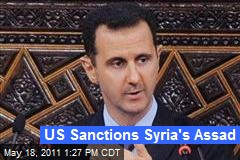 US Sanctions Syria's Assad