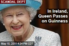 Queen Elizabeth II Passes on Guinness in Ireland