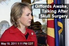 Arizona Representative Gabriel Giffords Awake, Talking After Skull Surgery