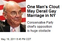One Man's Clout May Derail Gay Marriage in NY