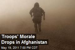 Troops' Morale Drops in Afghanistan