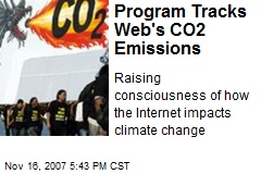 Program Tracks Web's CO2 Emissions