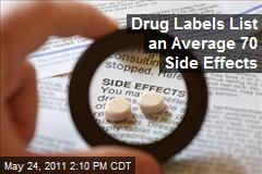 Drug Labels List an Average 70 Side Effects