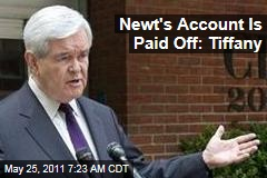 Newt Gingrich's Tiffany Account Is Paid Off, Says the Jeweler