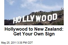 Hollywood Is Upset With Plans to Build a Parody of the Town's Iconic Sign in Wellington, New Zealand