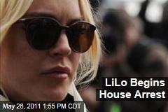 Lindsay Lohan Begins House Arrest Sentence