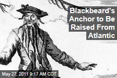 Blackbeard's Real-Life Anchor Extracted from Shipwreck