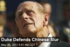Duke Defends Chinese Slur