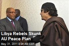 Libya Rebels Skunk AU Peace Plan