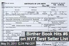 Birther Book 'Where's the Birth Certificate?' No. 6 on New York Times Best Seller List