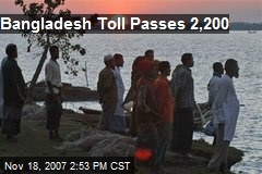 Bangladesh Toll Passes 2,200