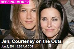 Jennifer Aniston, Courteney Cox Friendship Hits the Skids