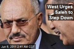 West Urges Saleh to Step Down