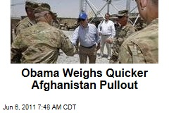 President Obama Weighs Quicker Afghanistan Withdrawal