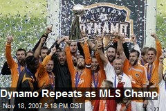 Dynamo Repeats as MLS Champ