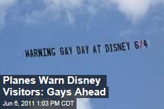 Planes Warn Disney World Visitors of Park's Gay Day