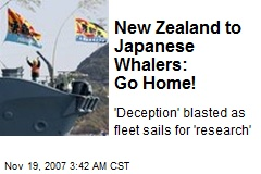 New Zealand to Japanese Whalers: Go Home!