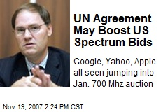 UN Agreement May Boost US Spectrum Bids