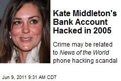 Kate Middleton's Bank Account Hacked in 2005