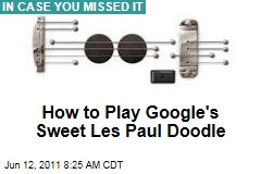 Google Les Paul Doodle Actually Plays Music