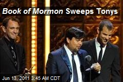 Book of Mormon Sweeps Tonys