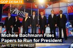 Republican Debate: Michele Bachmann Files Paperwork to Run for President