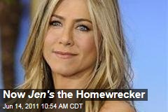 With Justin Theroux Romance, Jennifer Aniston Is the Homewrecker Now, Sources Say