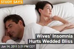 Study: Women's Insomnia Hurts Marriage; Men's Has Little Effect