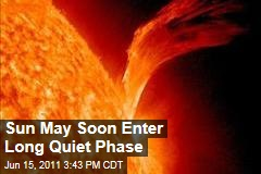 Scientists: Sun May Soon Enter Long, Quiet Phase