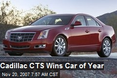 Cadillac CTS Wins Car of Year
