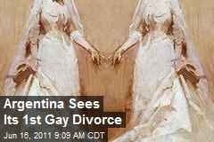 Argentina Sees Its 1st Gay Divorce