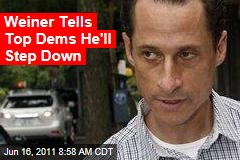 Anthony Weiner to Resign: He Tells Pals He Will Step Down