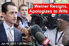 Anthony Weiner Resigns