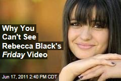 Rebecca Black's 'Friday' Removed from YouTube Over Copyright Dispute