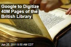 Google, British Library Deal: Google Scan, Digitize 250,000 Books