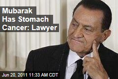 Egypt's Former President Hosni Mubarak Has Stomach Cancer: Lawyer