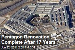 Pentagon Construction Complete: 17 Year Renovation of Defense Headquarters