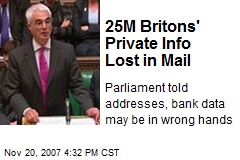 25M Britons' Private Info Lost in Mail